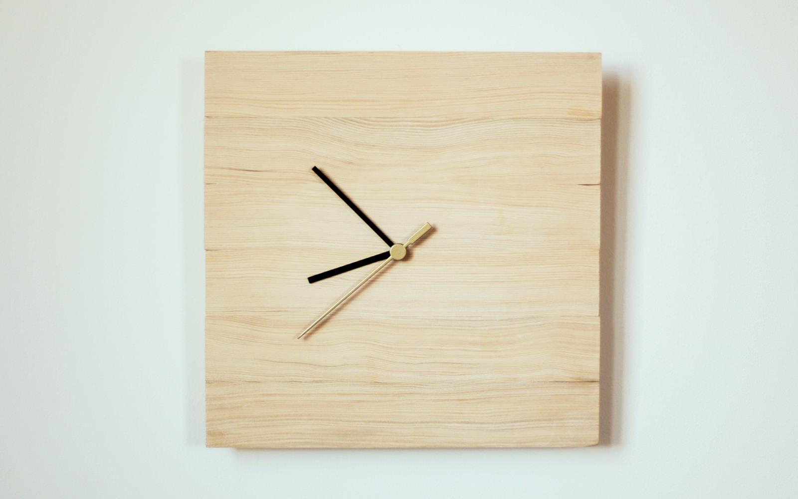 นาฬิกาไม้สุดชิค จากชุดนาฬิกา ikea